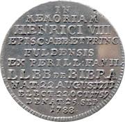 20 Kreuzer (Mort d'Heinrich VIII) – revers
