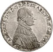 ½ Thaler - Adalbert III. von Harstall (Kontributionshalbtaler) – avers