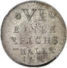 ⅙ Thaler - Adalbert II. von Walderdorf – revers