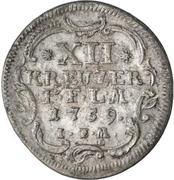 12 Kreuzer - Adalbert II. von Walderdorf – revers