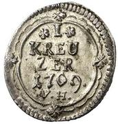 1 Kreuzer - Heinrich VIII – revers
