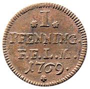1 Pfenning - Heinrich VIII von Bibra – revers