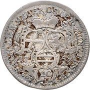 20 kreuzer Adalbert II de Walderdorff – revers