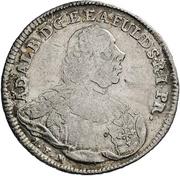½ thaler Adalbert II de Walderdorff (Konventionshalbtaler) – avers