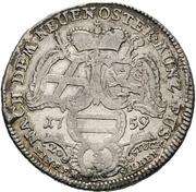 ½ thaler Adalbert II de Walderdorff (Konventionshalbtaler) – revers