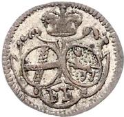 2 pfenning Heinrich VIII de Bibra – avers