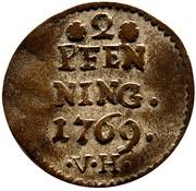 2 pfenning Heinrich VIII of Bibra – revers