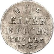 ⅙ thaler Adalbert II de Walderdorff – revers