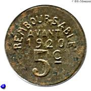 5 centimes - Union Fumeloise - Fumel [47] – revers