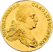 1 Ducat - Karl Egon I. (Celtic-gold ducat) – avers