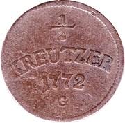 ½ Kreuzer - Joseph Wenzel – revers