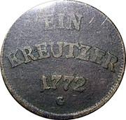 1 Kreuzer  - Joseph Wenzel – revers