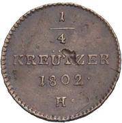 ¼ kreutzer Franz II – revers