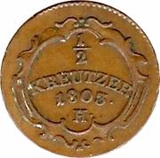 ½ kreutzer Franz II – revers