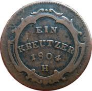 1 kreutzer Franz II – revers