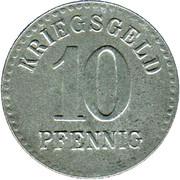 10 pfennig - Furtwangen – revers