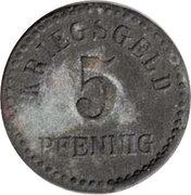 5 pfennig - Furtwangen – revers