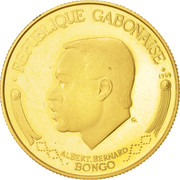 1000 Francs (Albert Bernard Bongo) – avers