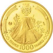 1000 Francs (Albert Bernard Bongo) – revers