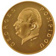 5000 francs (Georges Pompidou) – revers