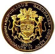 100 francs (Indépendance) – revers