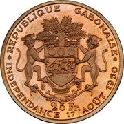 25 Francs (Independence; Trial Strike) – revers