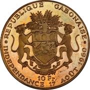 10 francs (Indépendance, essai) – revers