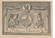 50 Heller (Gallneukirchen) – avers