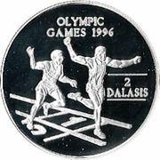 2 dalasis (Jeux olympiques Atlanta 1996) – revers
