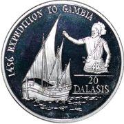 20 dalasis (Prince Henri le Navigateur) – revers