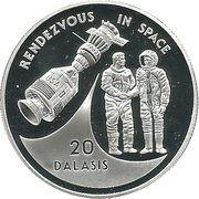 20 dalasis (Rencontre de cosmonautes américains et soviétiques dans l'espace) – revers
