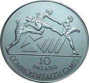 10 Dalasis (XIIIèmes Jeux du Commonwealth) – revers