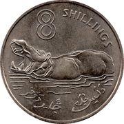 8 shillings - Elizabeth II (2eme effigie) – revers