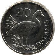 20 dalasis (WWF) – revers