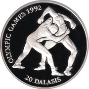 20 Dalasis (Jeux olympiques Barcelone 1992) – revers