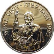 10 dalasis (Visite du pape Jean-Paul II) – revers