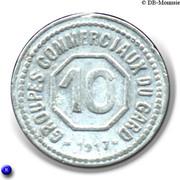 10 Centimes département du Gard [30] – revers