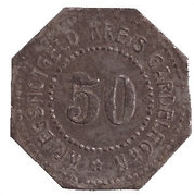 50 pfennig - Gardelegen – revers