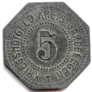 5 pfennig - Gardelegen – revers