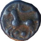 ¼ de statère (aux segments de cercles, cheval à gauche) – revers
