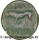 Quadrans GERMANVS INDVTILLI au taureau (Trévires/Belgique) – revers