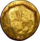 ¼ de statère d'or au croissant (Atrébates) – avers