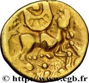 ¼ de statère d'or au croissant (Atrébates) – revers