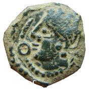 Bronze au profil féminin et à la fibule (Bellovaques) – avers
