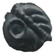 Potin à la tête d'indien au gros œil vide (Leuci) – avers