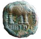 Bronze HIRTIVS à l'éléphant - Trévires (Région de Trèves) – avers