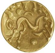 Statère d'or uniface au cheval à droite (Ambiani) – avers