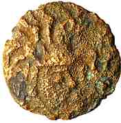 Bronze au coq et à tête humaine (Bellovaques) – revers