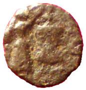 Petit bronze à la victoire (Antipolis, Antibes) – revers
