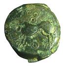 Bronze à la tête janiforme (Suessiones) – revers